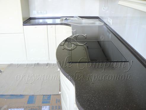 Black quartz столешница Столешница искуственный камень Авдотьино